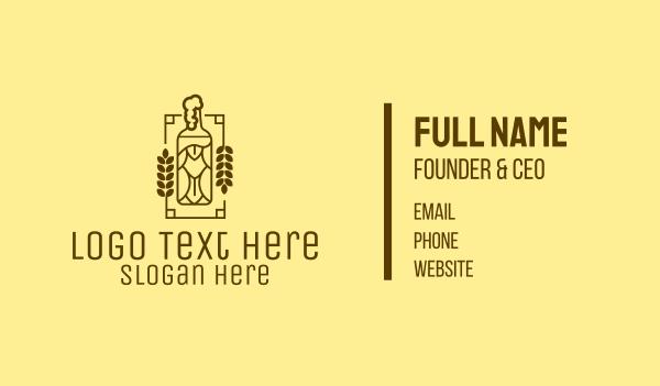 drinks - Craft Beer Bottle  Business card horizontal design