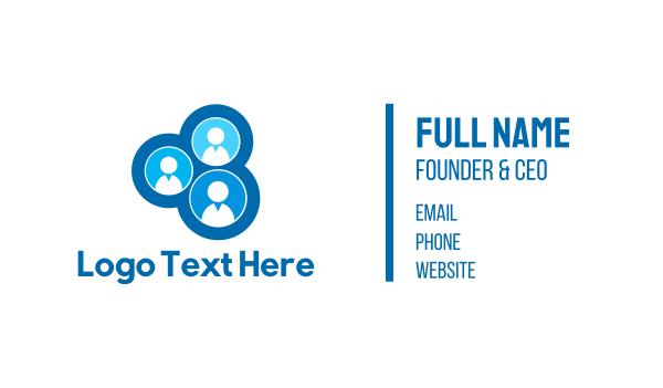 headhunter - Blue Team Business card horizontal design