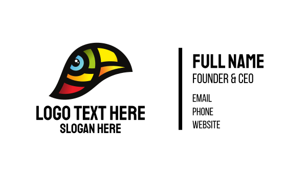 birdie - Toucan Bird Conservation Business card horizontal design