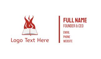 Book & Fire Business Card