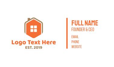 Home Icon Hexagon  Business Card