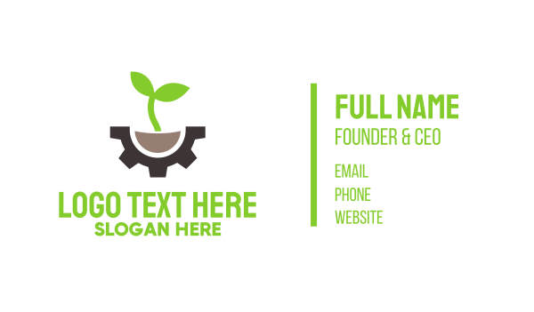 carbon-cleaning - Green Engineering Business card horizontal design
