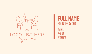 Alfresco Cafe Dining Table Business Card