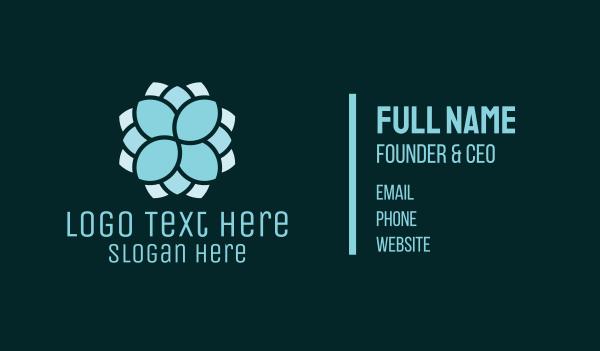 thai - Blue Mandala Therapy Business card horizontal design
