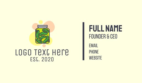 healthy food - Pickle Jar  Business card horizontal design