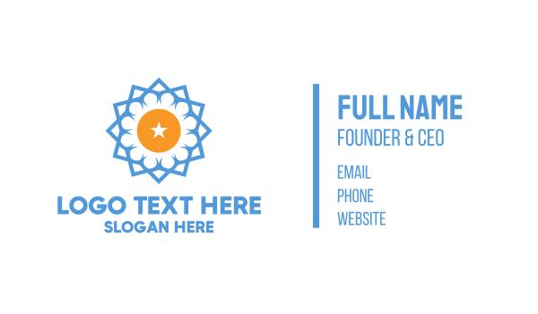 talent - Blue Star Flower Business card horizontal design