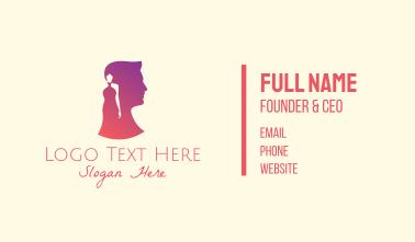 Man & Woman Profile Business Card