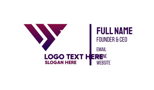 object - Modern Triangle Shape Business card horizontal design