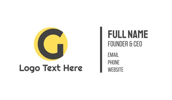 dot - Yellow Dot G Business card horizontal design