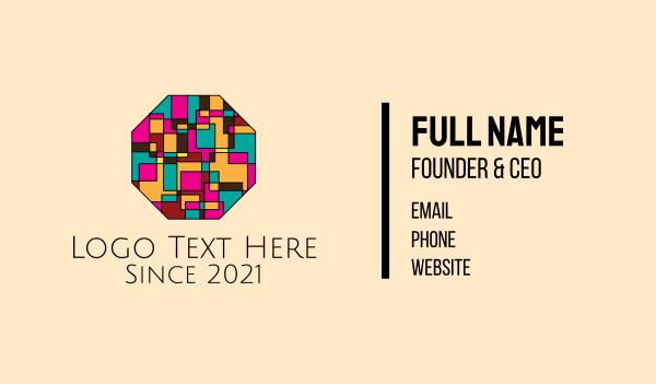 graphic design - Octagon Mosaic Art Business card horizontal design