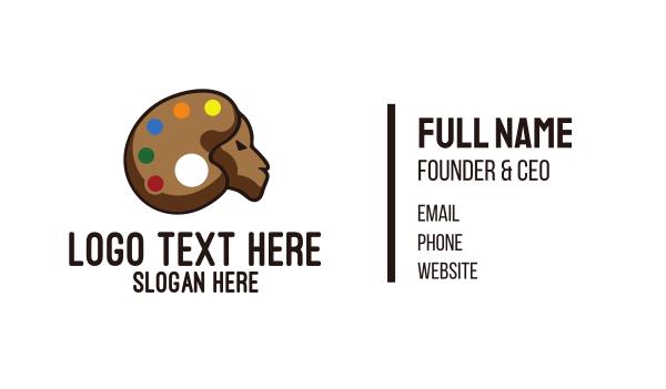 graphic design - Art Goat Paint Palette Business card horizontal design