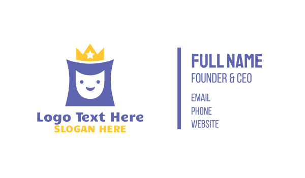 pedia - Happy Royalty  Business card horizontal design