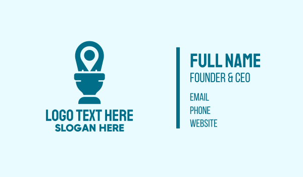 public - Toilet Location Pin Business card horizontal design