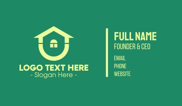 home builder - Green Housing Property Business card horizontal design