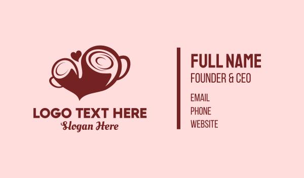 mocha - Coffee Love Business card horizontal design