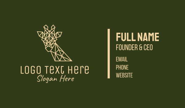 savannah - Giraffe Minimal Business card horizontal design