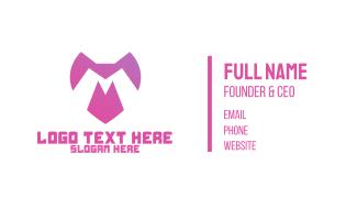 Pink Monogram MT  Business Card