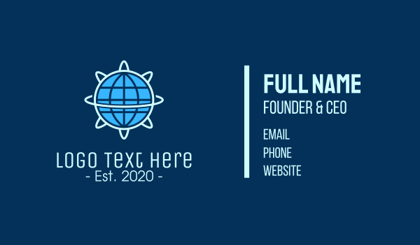 global business - Global Nuclear Energy Business card horizontal design