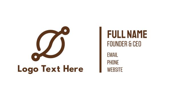 brown cup - Coffee Bean Tech Business card horizontal design