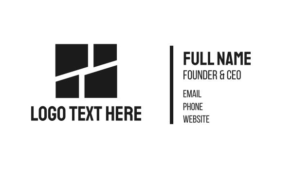 wall - Black Tiles Business card horizontal design