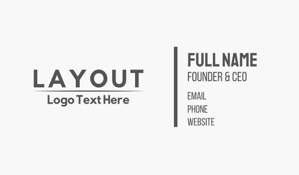 drafting - Gray Minimalist Business card horizontal design