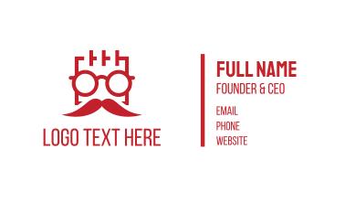 Square Man Moustache Business Card