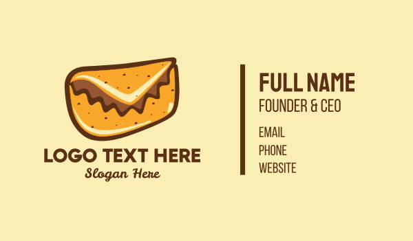 taqueria - Mail Taco Burrito Business card horizontal design