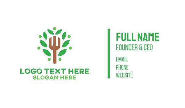 raw - Organic Food Business card horizontal design