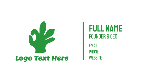 oil - Cannabis Approved Business card horizontal design