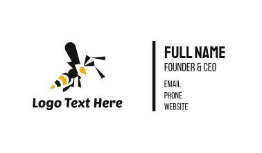 Black & Yellow Wasp Business Card