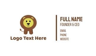 Cute Fluffy Kids Lion Business Card