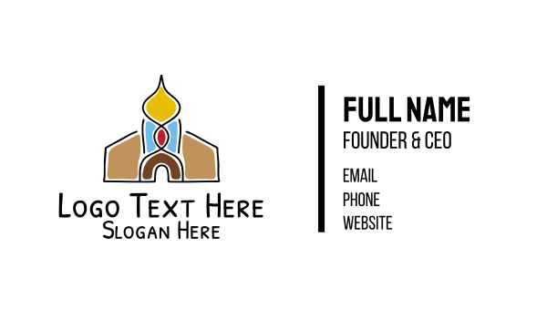 monument - Religious Temple Business card horizontal design