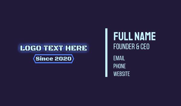 barracks - Army Blue Glow Text Business card horizontal design