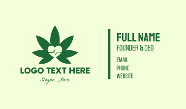 Green Healthy Weed Business Card