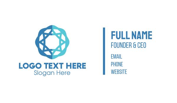 jewish - Professional Company Star & Circle Business card horizontal design