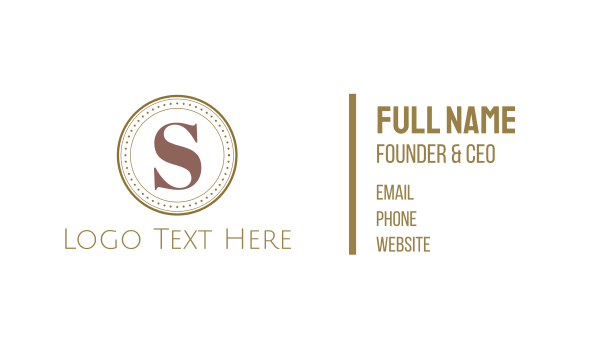 classy - Letter S Coin Business card horizontal design