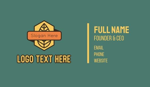 trail - Leaf Badge Banner Business card horizontal design