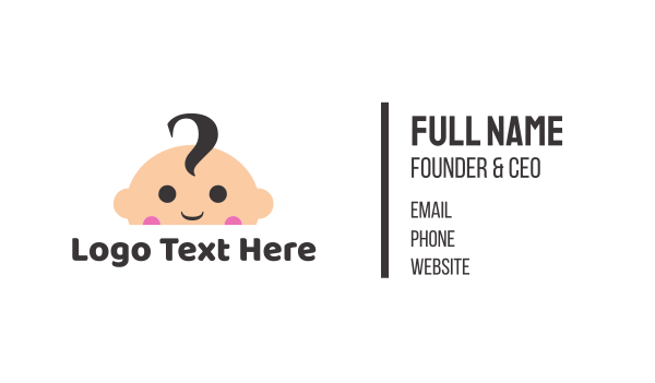 baby - Cute Baby Face Business card horizontal design