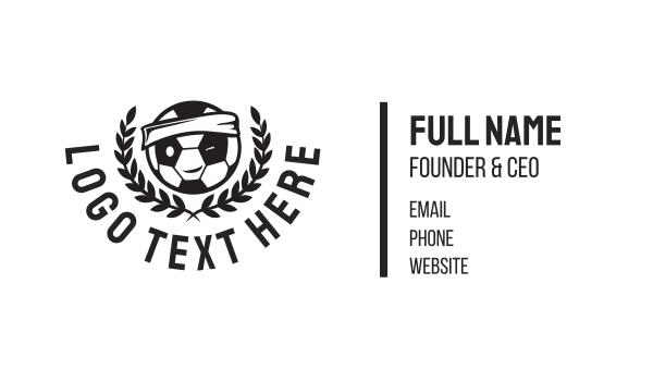 futsal - Soccer Football Mascot Business card horizontal design