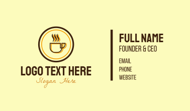 Hot Coffee Mug Circle  Business Card
