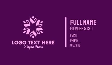 Purple Floral Wreath Business Card