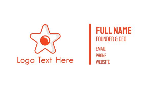 homemade - Star Egg Business card horizontal design