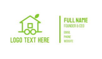 Green Eco Wheel House Business Card