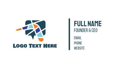 Mosaic Boomerang Chat Business Card