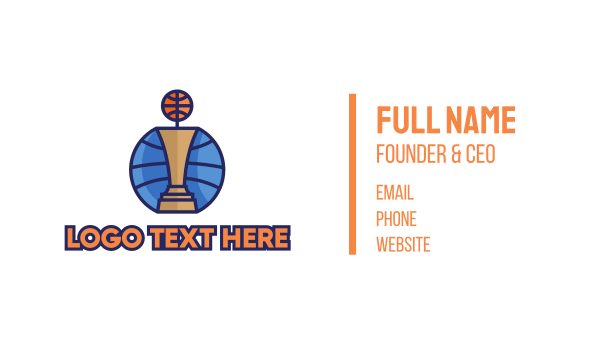 game - Basketball Tournament Competition Trophy Business card horizontal design