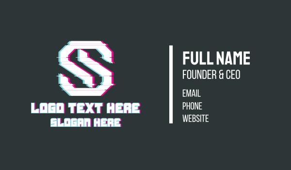 glitchy - Letter S Glitch Business card horizontal design