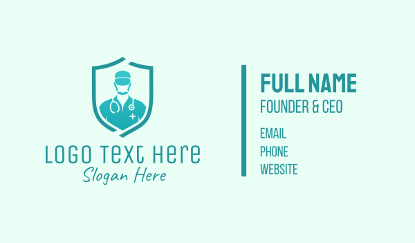 stethoscope - Medical Doctor Protection Business card horizontal design