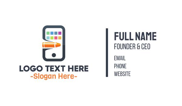 cell - Screen Shot Business card horizontal design