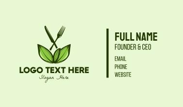 Healthy Greens Salad Food Business Card