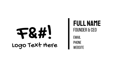 F Word Business Card